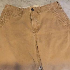 Gap boy flat front khaki pants